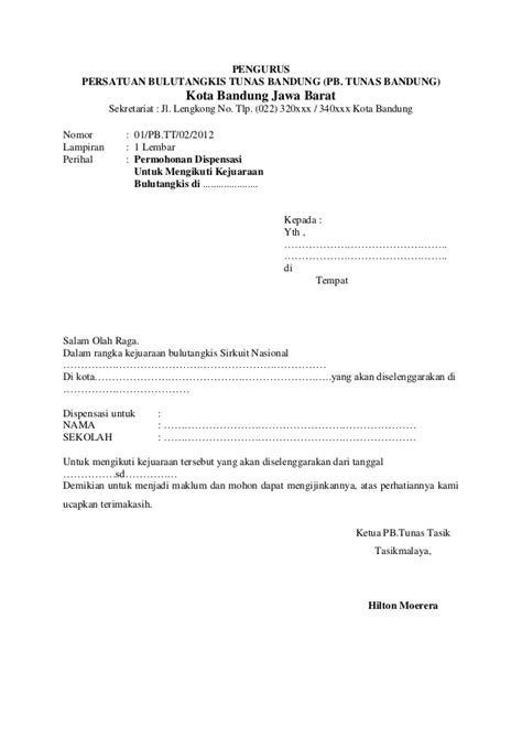 Contoh Surat Permohonan Dispensasi Nikah - Surat 0