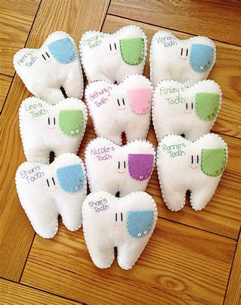Handmade Tooth Pillows - handmade personalised tooth pillows pockets