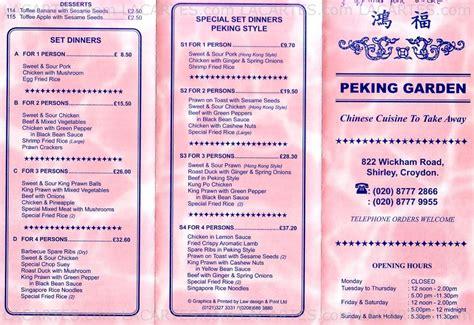 Peking Garden Ma Menu by 2 Of 2 Price Lists Menus Peking Garden