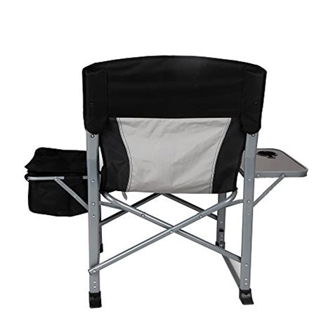 directors chair with side table and cooler kingc heavy duty steel folding chair director s chair