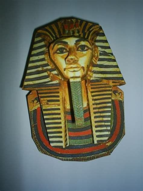 printable 3d king tut mask egypt theme pinterest