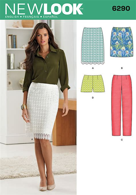 new look sewing pattern miss womens skirts