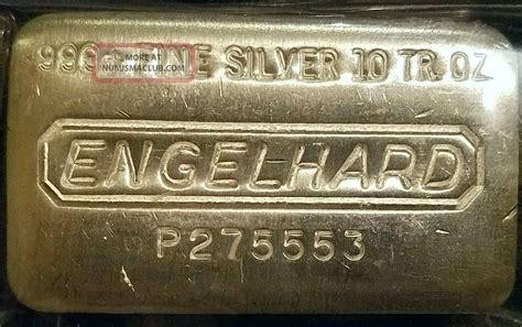 1 oz engelhard silver bar 999 10 oz engelhard silver bar 999