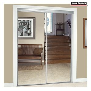 36 Inch Sliding Closet Doors 36 Sliding Closet Doors White Mirror Panel Clear Glass Sliding Closet Interior Shop Reliabilt