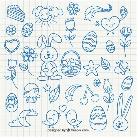 free drawing easter drawings vector free