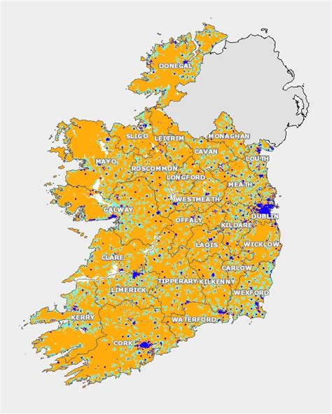 national broadband map high speed broadband for rural ireland