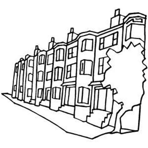 apartment coloring page apartment buildings on the street coloring page