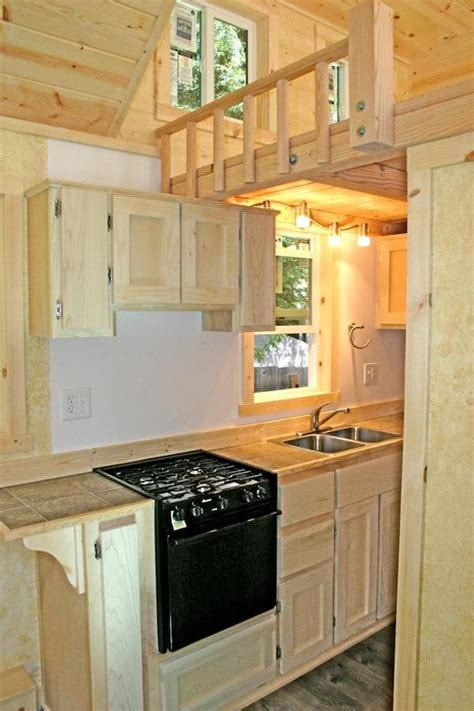tiny home kitchen design tiny house with a flip up porch