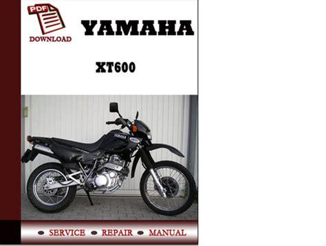 Yamaha XT600 Workshop Service Repair Manual Pdf Download   Download