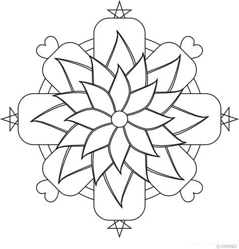 free easy mandalas coloring pages