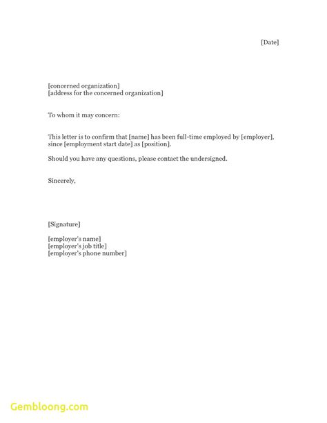 Employment Verification Letter Aslitherair Employment Verification Letter Template Word