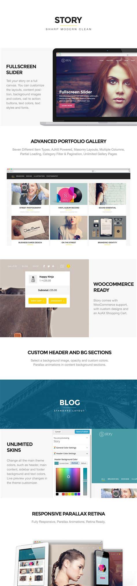 pexeto themes story story creative responsive multi purpose theme