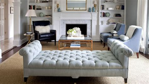 tufted bench living room harrison home