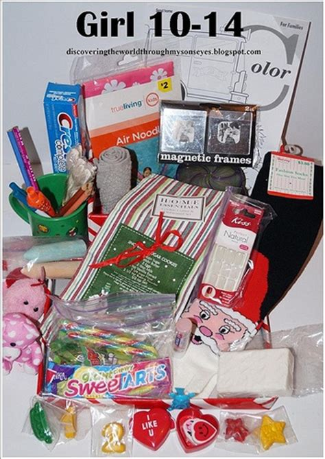 shoe box idea for girls 10 14 operation christmas child