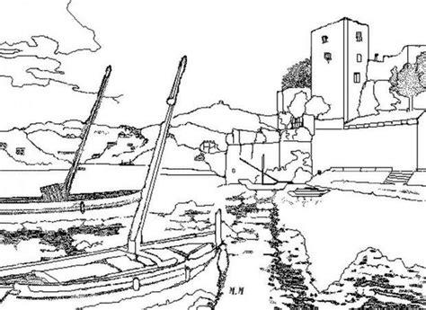 hutte préhistorique dessin coloriages coloriage d un port fr hellokids
