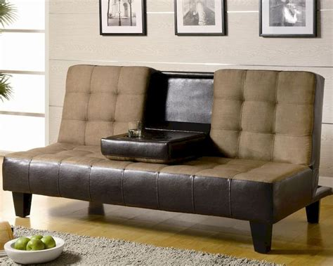 coaster furniture sofa coaster furniture convertible sofa bed in tan and dark