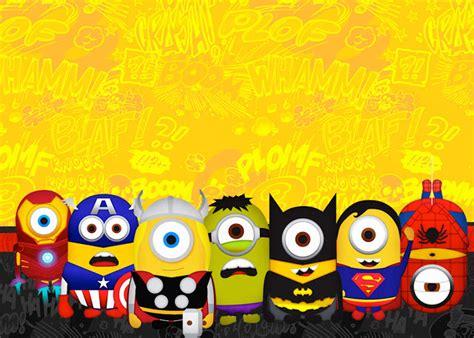 imagenes de minions super heroes minions super h 233 roes invitaciones para imprimir gratis