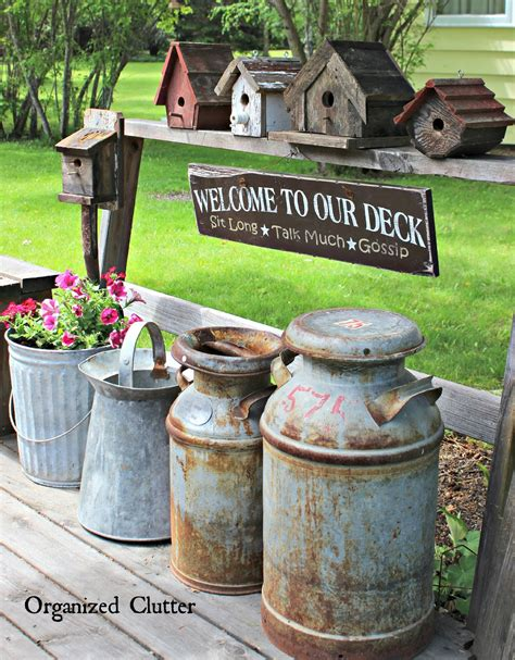 Rustic Garden Decor Ideas Decorating The Deck With Rustic Birdhouses Organized Clutter