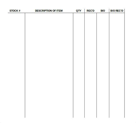 supply inventory template 19 supply inventory templates free sle exle
