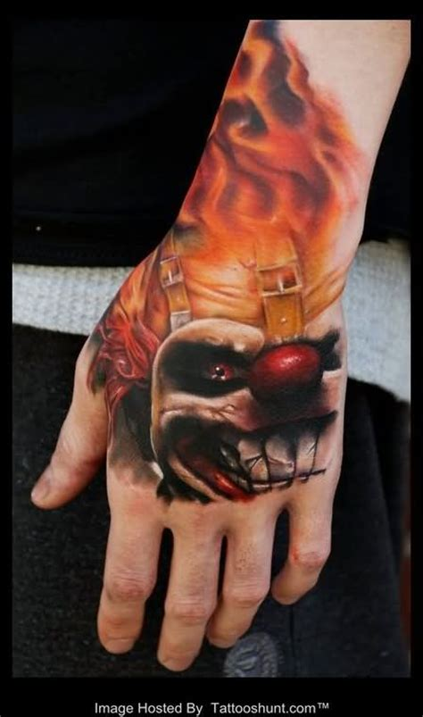joker hand tattoo awesome color 3d joker on tattooshunt