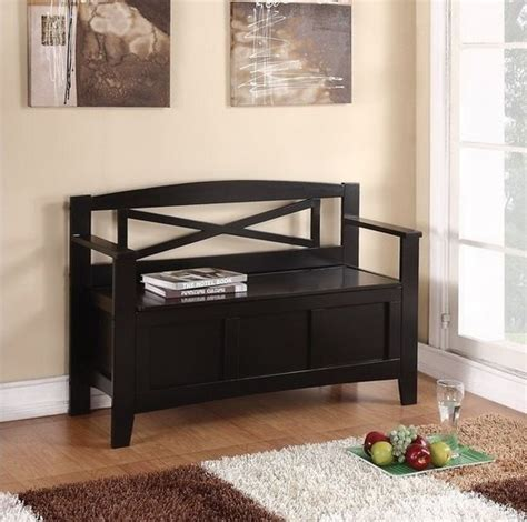 entryway bench seat new entryway black wood storage bench seat foyer hallway