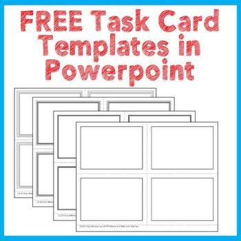 Task Card Template Ppt 18 best images about free task card templates on