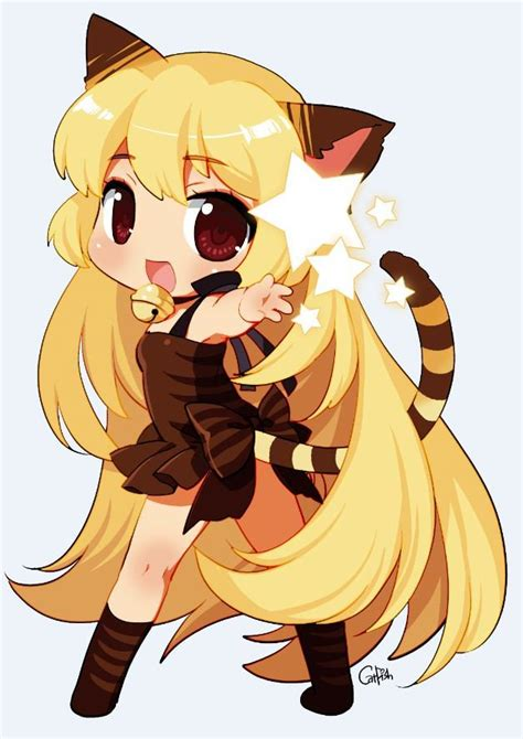 imagenes kawaiis de nekos kawaii anime chibi neko taringa