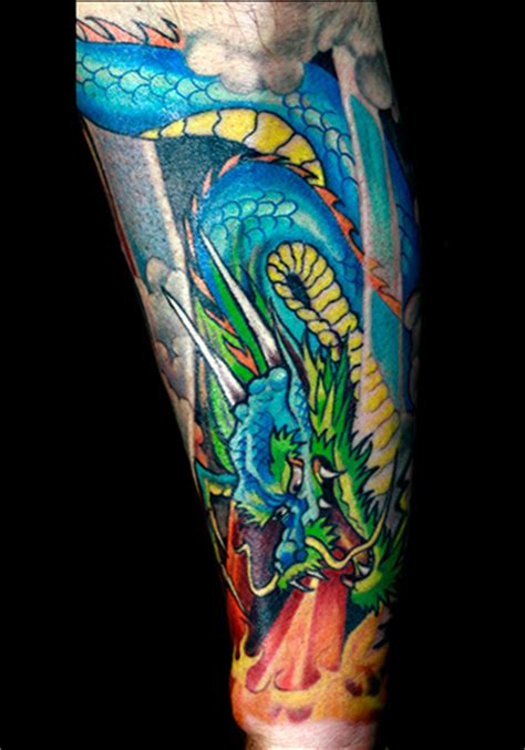 blue dragon tattoo ideas conrad askland