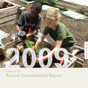 Annual Sustainability Report by Annual Sustainability Reports Baltimore Office Of Sustainability