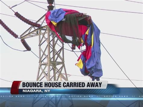 bounce house flies away bounce house flies away lands on power lines in new york wptv com