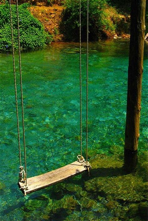 river swing swing over water dump a day