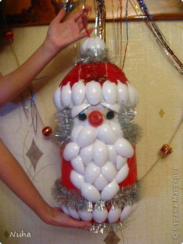 christmas tree santa claus plastic spoon crafts pinterest