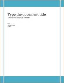Microsoft Word Cover Page Templates by Essay Cover Page Template Word