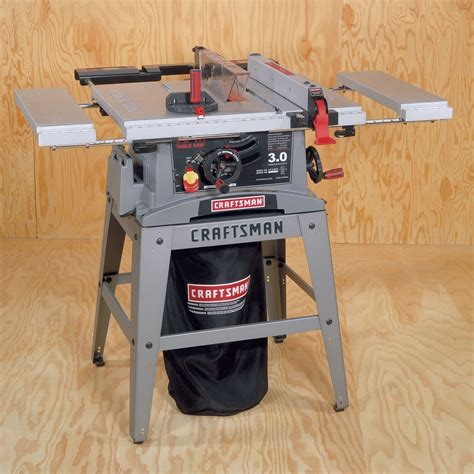 table saw dust collection craftsman 10 in table saw with dust collection system
