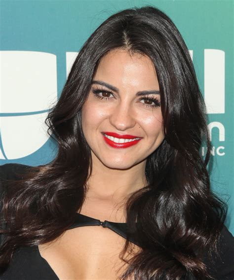 Maite Perroni Long Wavy Formal Hairstyle   Black Hair Color