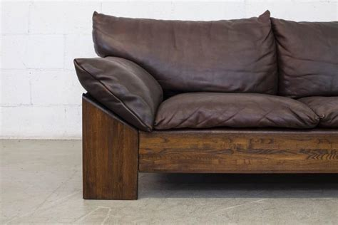 Buffalo Leather Sofa by Leolux Three Seat Buffalo Leather Sofa At 1stdibs
