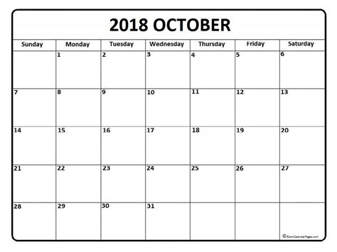 Calendar 2018 October Printable 2018 Calendar October Biscottiitaliano