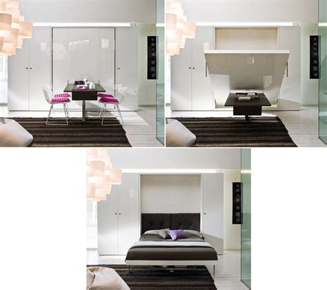 Murphy Bed With Dining Table Furniture Transformers On Murphy Beds Transforming Furniture And Space Saving