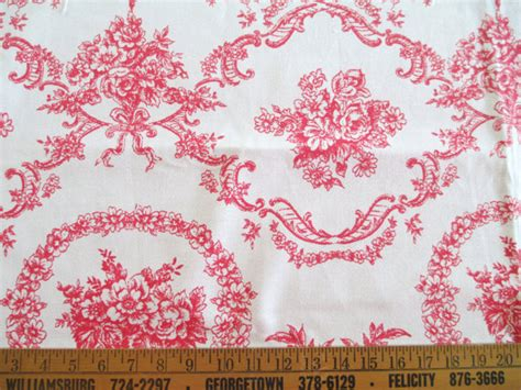country french upholstery fabric 2 5 yards red white toile fabric french country decorating