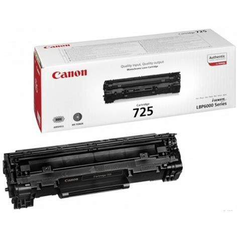 Toner Canon Lbp 6000 canon 725 black orginal toner cartridge 1600 pages for