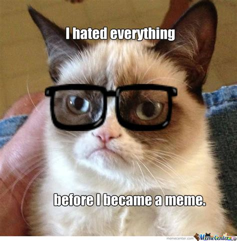 How To Make A Grumpy Cat Meme - hipster grumpy cat by ltbeastmode meme center