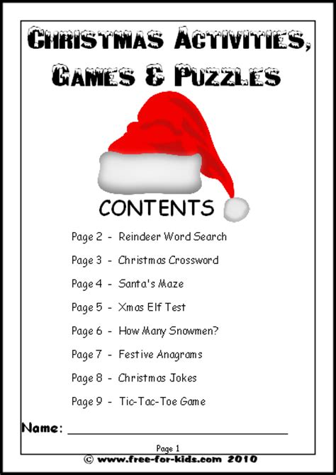 kids christmas activities games and worksheets