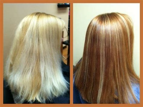how to low light bleached hair at home paul s client wanted to darken her home applied bleach