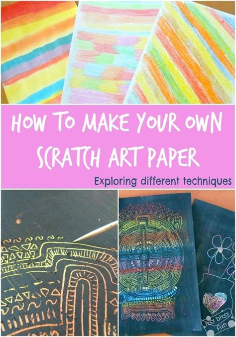 How To Make Scratch Paper With Acrylic Paint - how to make your own scratch paper and