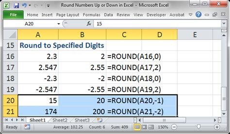 how to round up numbers in excel youtube