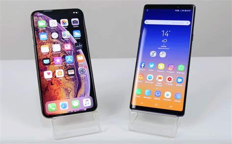 iphone xs max destroys galaxy note 9 in real speed test bgr
