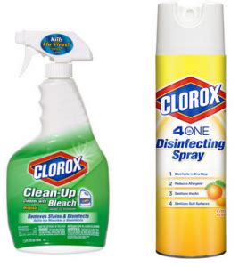 clorox    disinfecting spray  clean  cleaner bleach spray coupon