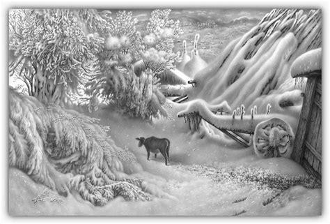 imagenes a lapiz de navidad dibujos hechos lapiz nieve navidad 31