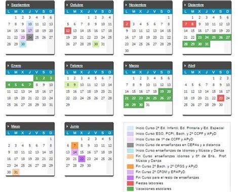 El Calendario A O Calendario Escolar 2015 2016 En Espa 241 A Definanzas