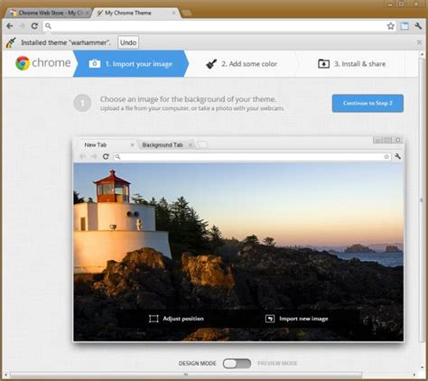 chrome themes upload how to create your own personalized chrome theme ghacks